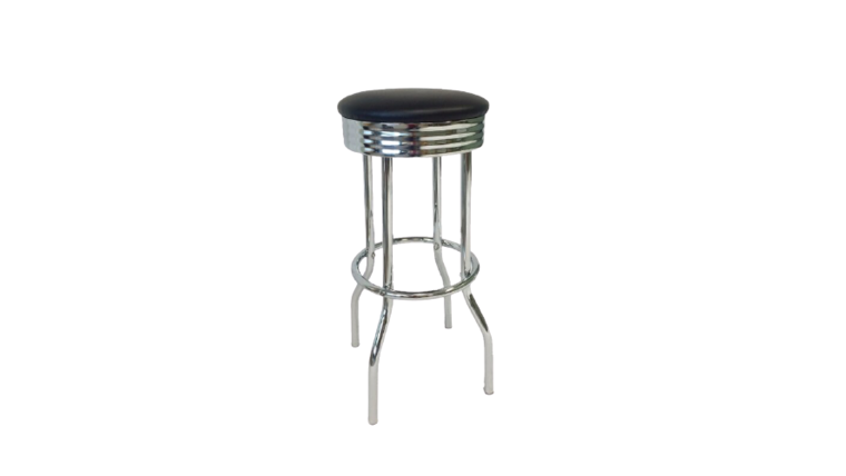 Picture of a Black Diner Bar Stool