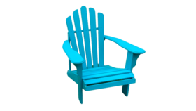 Image of a Adirondack Chair - Turquoise