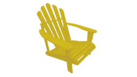 Image of a Adirondack Chair - Yellow