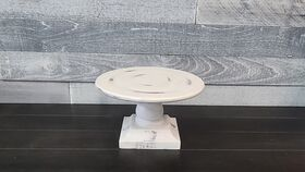 Image of a White Rustic Wooden Cake Stand