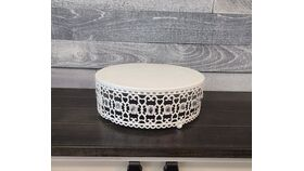 Image of a White Diamond Cake Stand