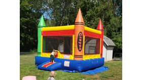 Image of a Crayola Bounce House