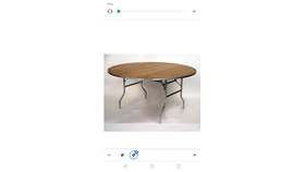 "Image of a 36"" Round Table"