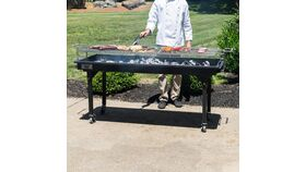 Image of a 2'x5' Charcoal Grill
