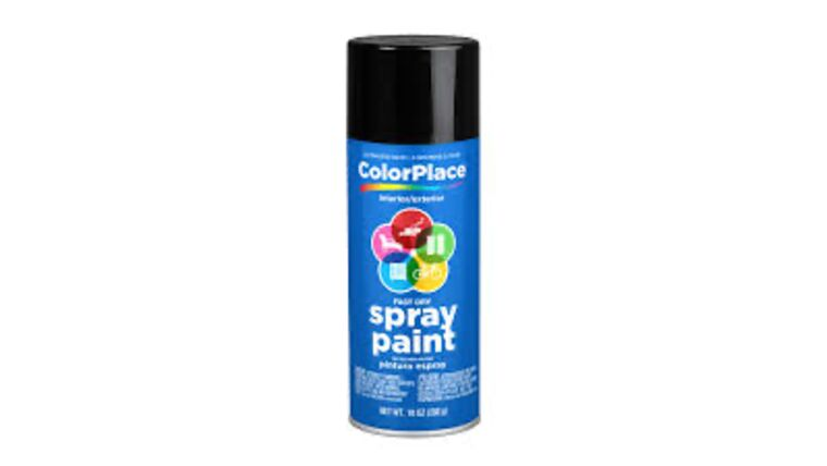Picture of a Black Spray Paint