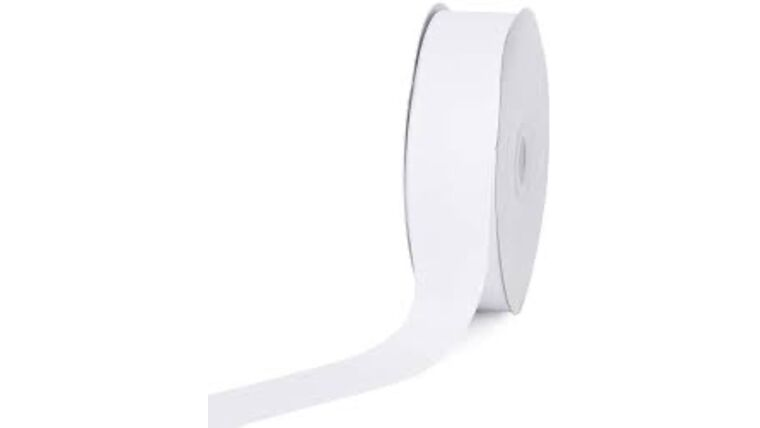 Picture of a 1 & 1/2 Inch White Ribbon