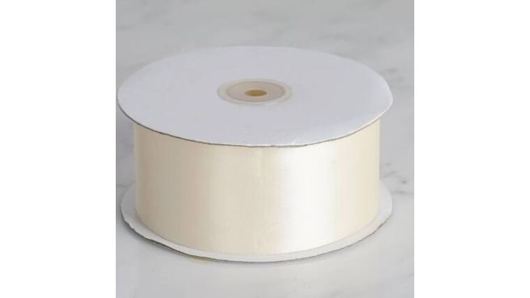Picture of a 1 & 1/2 Inch Antique White Ribbon