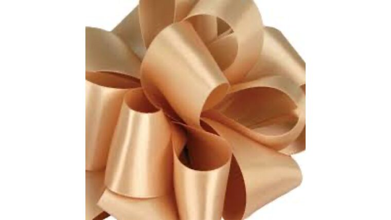 Picture of a 1 & 1/2 Inch Raw Silk Ribbon