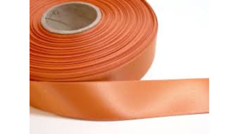 Picture of a 1 & 1/2 Inch Burnt Orange Ribbon