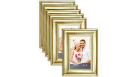 "Image of a 4"" x 6"" Gold Frame (medium width frame)"