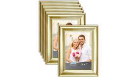 "Image of a 5"" x 7"" Gold Frame (medium width frame)"