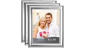 "Image of a 8"" x 10"" Silver Frame (medium width frame)"