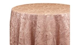 """Image of a 120"""" Blush Paisley Lace Overlay"""
