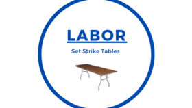 Image of a Set Up Tables