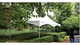Image of a 10x20 White Festival Frame Tent Installed