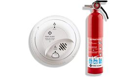 Image of a Fire Extinguisher w/ CO Detector