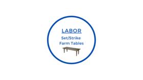 Image of a Set/Strike Farm Tables