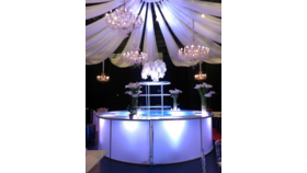 Image of a 14' D - White Acrylic Round Bar