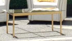 Image of a Gold Coffee Table