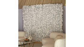 Image of a 4ft x 8ft - Artificial White Rose Wall