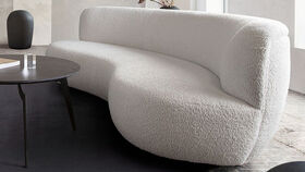Image of a 7ft - White Teddy Bear Sofa