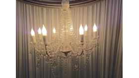 """Image of a 24"""" - Clear White Chandelier"""