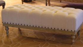 Image of a 4ft - Vintage Fabric Bench