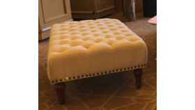 Image of a 4ft - Vintage Fabric Tufted Bench