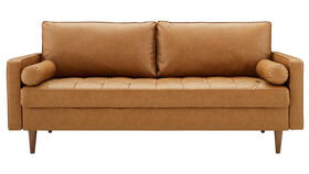 """Image of a 73"""" W x 32.5"""" H x 31.5"""" L - Valour Upholstered Faux Leather Sofa"""