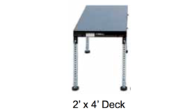 Image of a 2' L x 4' W - Stage Wood Top Deck