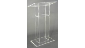 Image of a 48in Tall - Clear Acrylic Podium