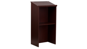 Image of a 45in H x 23in W x 16in D - Mahogany Wood Podium