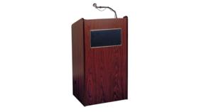 Image of a 50in H x 25in W x 22in D - Oak Wood Audio Podium