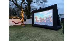 Image of a 18' Inflatable Screen