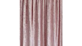 Image of a Drape - Crushed Velvet, Blush Pink - 18' x 5'