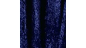 Image of a Drape - Crushed Velvet, Navy Blue - 18' x 5'