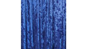 Image of a Drape - Crushed Velvet, Royal Blue - 18' x 5'
