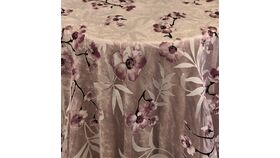 """Image of a Linen - 108"""" Round Overlay - Cherry Blossom, Pink"""