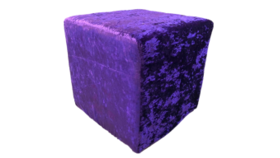 """Image of a Furniture Ottoman - Crushed Velvet, Purple - 16"""" H x 16"""" W"""