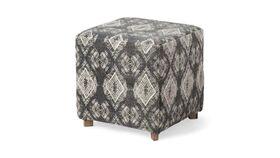 "Image of a Furniture Ottoman - Hawks Cube Ottoman, Grey - 18.5"" H x 18"" W"