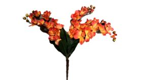 "Image of a Floral - Flower Orchid, Orange - 28"" H"