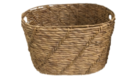 "Image of a Basket - Oval Wicker with Cut Out Handles - 15"" H x 25"" W"