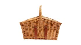 Image of a Basket - Traditional Picnic w Handle - 12'' H x 12'' W  x 20'' L