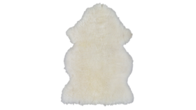 "Image of a Throw - Faux Fur Polar Bear, White - 28"" x 16"""