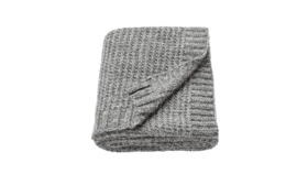 "Image of a Throw - Knit Throw, Grey - 71"" x 51"""