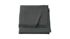 "Image of a Throw - Woven Blanket, Dark Grey - 51"" x 67"""