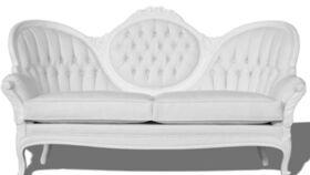 Image of a Furniture Sofa - Alexander White Ornate Wood