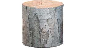Image of a Furniture Stool - Faux Tree Stump Round, Light