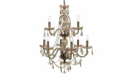 """Image of a Chandelier - Crystal, Gold - 34.25"""" H x 26"""" W"""