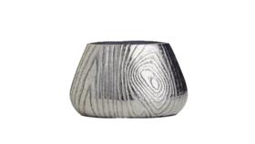 "Image of a Vase - Birch Pot, Silver - 5"" H x 8"" W x 4"" D"